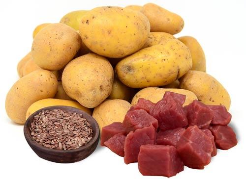 kartoffeln-leinsamen-fleisch